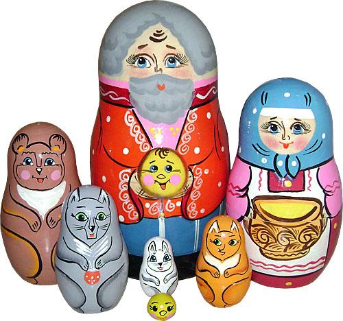 знакомство дошкольников русские матрешки